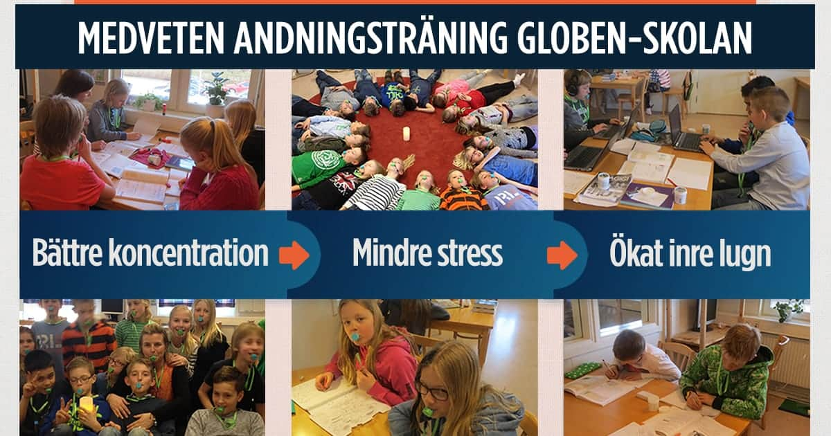 Andningsträning i skolan ökar koncentration, minskar oro och stress