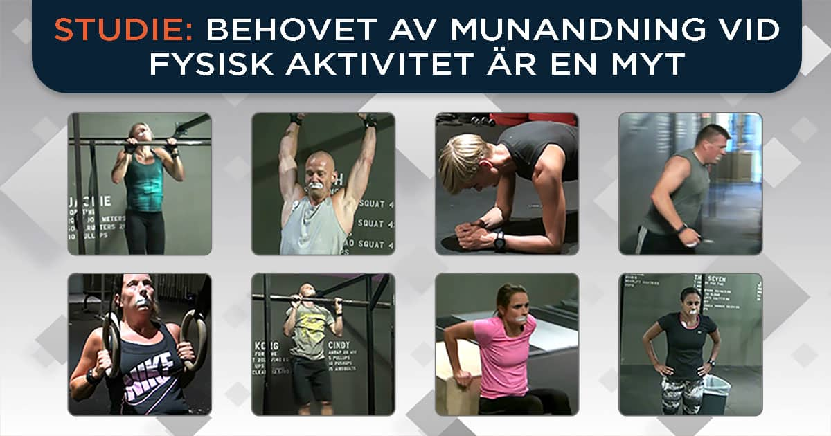 Studie: Behovet av munandning vid fysisk aktivitet är en myt