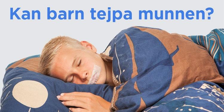 Sova Med Tejpad Mun