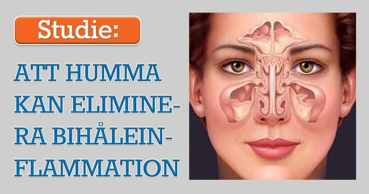 Att humma kan eliminera bihåleinflammation