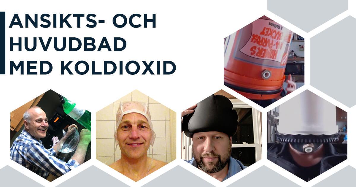 Ansikts- och huvudbad med koldioxid