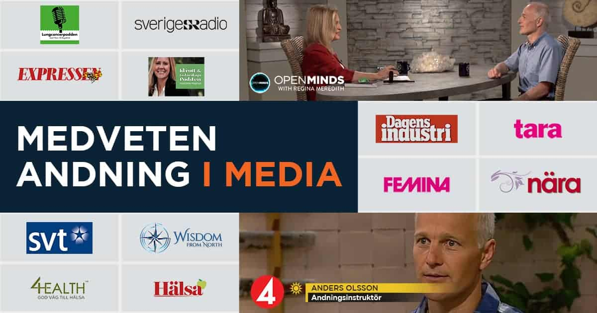 TV och radio-inslag, artiklar m.m. om Medveten Andning